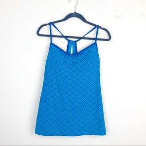 Lucy Blue Athletic Tank Top   B20-15
